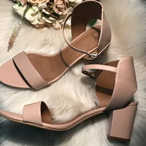💐14TH & UNION Wedges Trista Sandals Blush 💐